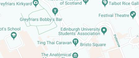 Map of Edinburgh Old Town STD Clinic